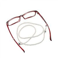 Pearl Chain Beaded Eyewear Handmade Fashion Rope Reading Glasses Cord Holder New