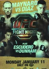 2010 TOPPS UFC SERIES 4 INSERT POSTER FIGHT NIGHT 20 NATE DIAZ RORY MACDONALD