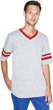 American Apparel Men's 50/50 Football V-Neck Short Sleeve T-Shirt. A10