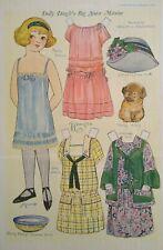 1923 Dolly Dingles Big Sister Maxine Flapper Girl Vintage Uncut Paper Doll