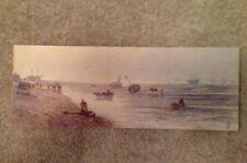 "Sidney Yates Johnson ""Low Tide"". Watercolour On Card"