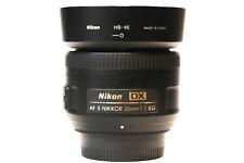 Nikon Nikkor 35mm Auto Focus 1:1.8 DX AF-S G Lens