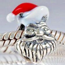 Santa Claus Papá Noel encanto grano de plata esterlina 925