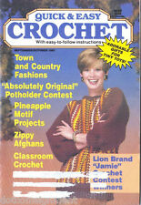 Quick & Easy Crochet Magazine Sept/Oct 1991 Pineapple Motifs Puppy Purse
