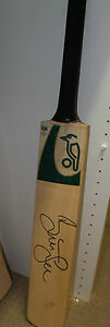 Brett Lee (Australia) signed Kookaburra full size cricket bat + COA and proof