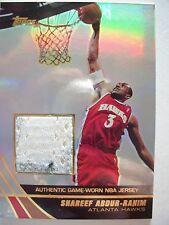 2004 TOPPS BASKETBALL GAME JERSEY SHAREEF ABDUR- RAHIM  JE-SAR HAWKS BX54
