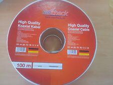 Satkabel 100m High Quality RG-6 2-fach geschirmt Koaxkabel