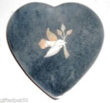 Peace Dove Soapstone Candleplate with Mother-of-Pearl Inlay