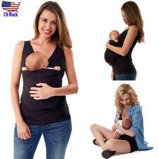 765b13f737a Women Sleeveless Top Mom Kangaroo Pocket Vest Tank Breastfeeding T Shirt  Blouse