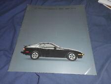 1978 Porsche 924 36 Page USA Market Color Brochure Catalog  Prospekt