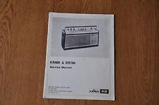 RGD KB KR600 RR700 Radio Genuine Service Manual. Kolster Brandes, Vintage manual