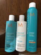 Moroccanoil Extra Volume Shampoo &conditioner 8.5 fl oz With Hairspray 10fl oz