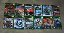 12 Microsoft Xbox Original X-BOX GAMES  - HALO, GHOST RECON, MEDAL OF HONOR