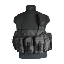 Army Us Tactische Mag Chest Rig Militaire Ammo Carry Range Vest 6 Zakken Zwart