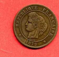 (BR.109) 5 CENTIMES CÉRÈS 1879 A (TTB+)