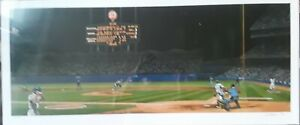 """""""Classic Chavez Clout"""" 16x36  Bill Purdom - 214/600 Signed  Dodgers v A's"""