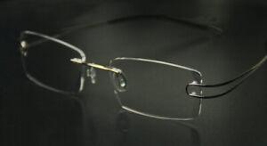 Fashion Men's Reading Glasses Rimless Titanium Frame Adaptive Lens +1.00 ~ +6.00