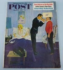1961 SATURDAY EVENING POST Magazine 25 March Vintage American Pop Art G Hughes