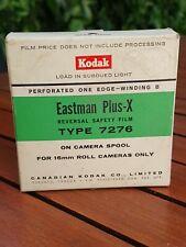 Kodak Eastman Plus-X réversible type 7276 perforé 1 côté Film (périmé 1967) 16mm