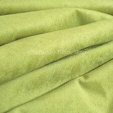 10 Metres Of Luxurious Plump Chenille Invitingly Soft Upholstery Fabric In Green
