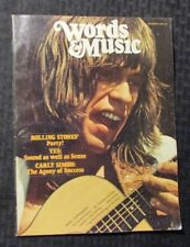 1972 Oct WORDS & MUSIC Magazine v.2 #7 FN- 5.5 Steve Howe Yes / Rolling Stones