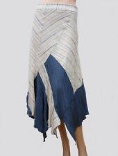 Livraison gratuite. Jupe DPM T 34 XS 0 Longue Déstructurée Ecru bleu froissé  Fête Skirt Rock falda 4bede839724