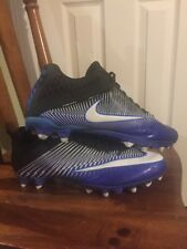 Excellent Barely Used Nike Vapor Football Cleats Blue Black White  11.5