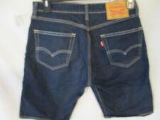 Levi's 505 Cotton Blnd 30 W Dark Rinse Denim Shorts NWOT
