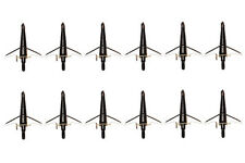 12PK Swhacker 100Grain Black Broadheads For Compound bow Hunting Arrow Tips