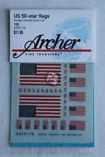 Archer 1/35 US 50-Star Flags (different sizes with 19 Shoulder Patches) AR35178