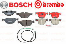 BMW E71 X6 xDrive50i Front & Rear Brake Pads+Front Wear Sensor BOSCH+BREMBO NEW