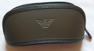 EMPORIO ARMANI Soft zip up Sun Glasses case  NEW Grey cleaning cloth certificate