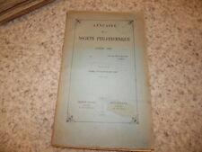 1896.Annuaire de la société philotechnique.Camoin de Vence.Paul Pionis