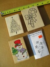 4 Wonderful Christmas Rubber Stamps