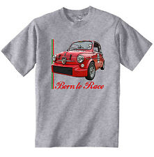 FIAT 600 ABARTH INSPIRED 1 - NEW COTTON GREY TSHIRT - ALL SIZES IN STOCK