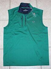 NWT Vineyard Vines Mens Small Stadium Green Performance Jersey 1/4 Zip Golf Vest