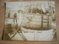RARE  PHOTO  1870 MONTGOLFIERE BALLON DIRIGEABLE