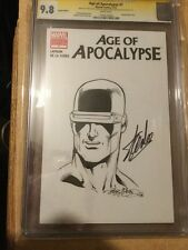 Age Of Apocalypse #1 Cgc 9.8 Ss Sketch Of Cyclops By McLeod Signed Stan Lee