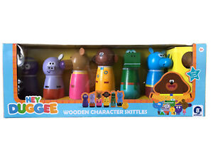 Wooden HEY DUGGEE Character skittle set toy kids Skittles