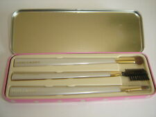 ESTEE LAUDER BRUSHES IN PINK POLKA DOT TIN SET OF 3 MAKE UP BRUSHES IN CASE