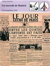 FICHE CARD Les Accords de Munich 30 Septembre 1938 Le Jour l'Echo de Paris 90s