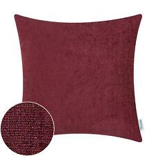 "CaliTime Throw Cushion Pillows Case Shell Cover Sofa Decor Solid Chenille 18x18"""