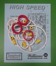 1986 Williams High Speed pinball rubber ring kit
