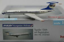 Herpa Wings 1:500 MALEV Hungarian Airlines Tupolev 134A (512145) RAR