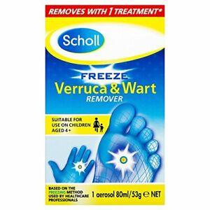 Scholl Verruca and Wart Remover Freeze Treatment, 80 ml