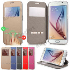 New Smart View Window Flip PU Leather Wallet Case Stand Cover For Various Phones