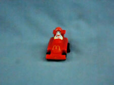 RONALD McDONALD in RED RACE CAR Roll Along VTG McDonalds HAPPY MEAL TOY 1988 M-