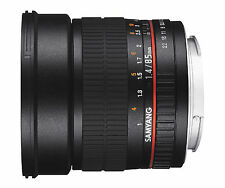 Samyang 85mm F1.4 Aspherical IF UMC ED Lens For Samsung NX- Free Ship - Warranty