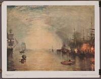 Vintage National Gallery Of Art Print Turner Keelmen Heaving In Coals By Moon