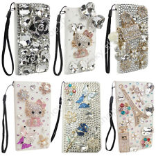 Luxury Bling Diamond Crystal Leather Wallet Case for iPhone 11 Pro Max XR XS 8+